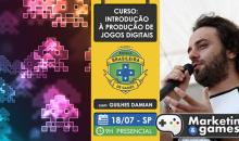 Sorteio de 1 inscrição VIP para o curso de Introdução à Produção de Jogos Digitais da Escola Brasileira de Games